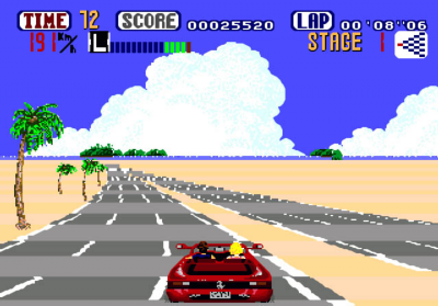 out run mega drive